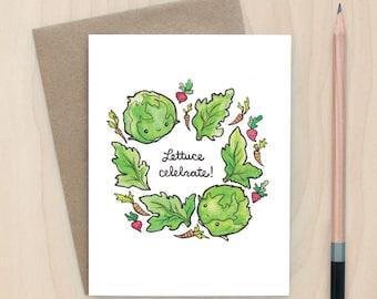 Lettuce Celebrate - A2 Greeting Card