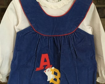 Vintage Girls Jumper Dress by Alyssa