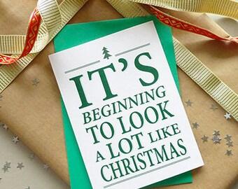 Christmas card set - pack of 6 cards - holiday card set - merry xmas - happy holidays - seasons greetings - festive - merry christmas card