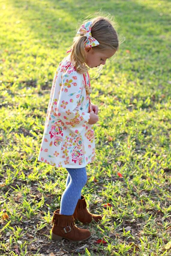 Rose Floral Hair Bow Clip Floral Baby Hair Bow Clip White Pink Floral Toddler Hair Bow Clip Pink Floral Hair Clip Bow Floral Hair Bow Clip