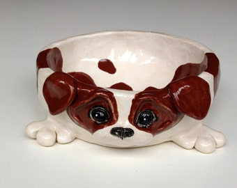 Personalized Dog Bowl, Jack Russell Ceramic Dog Bowl, Personalised Dog Bowl, Gifts for Dog Lovers, Dog Feeder, Custom Dog Bowl, Large Bowl