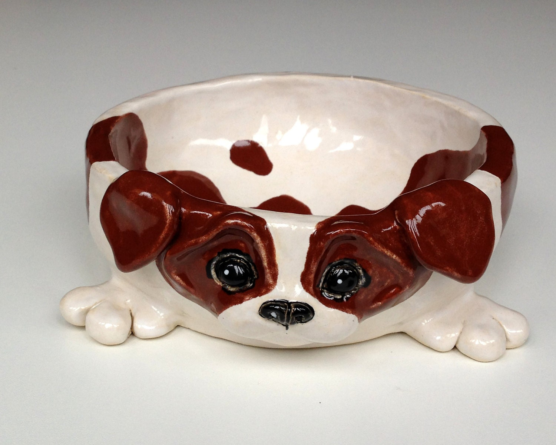 Personalized Dog Bowl Jack Russell Ceramic Dog Bowl