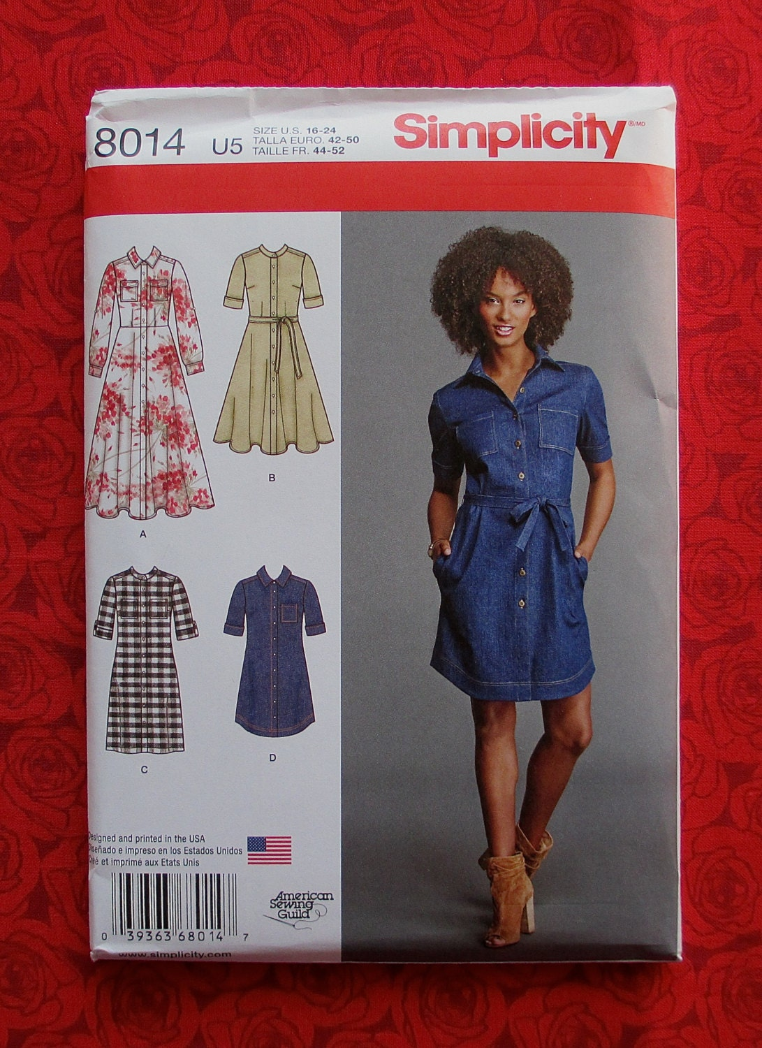 Simplicity Sewing Pattern 8014 Button Front By