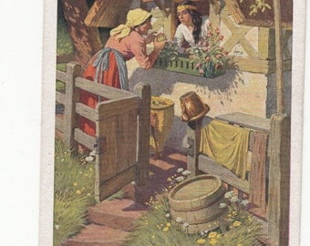 Early Brothers Grimm Fairy Tale Postcard,One Of 20 In Collection, Lovely Color