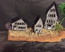 Miniature village - rural cottages