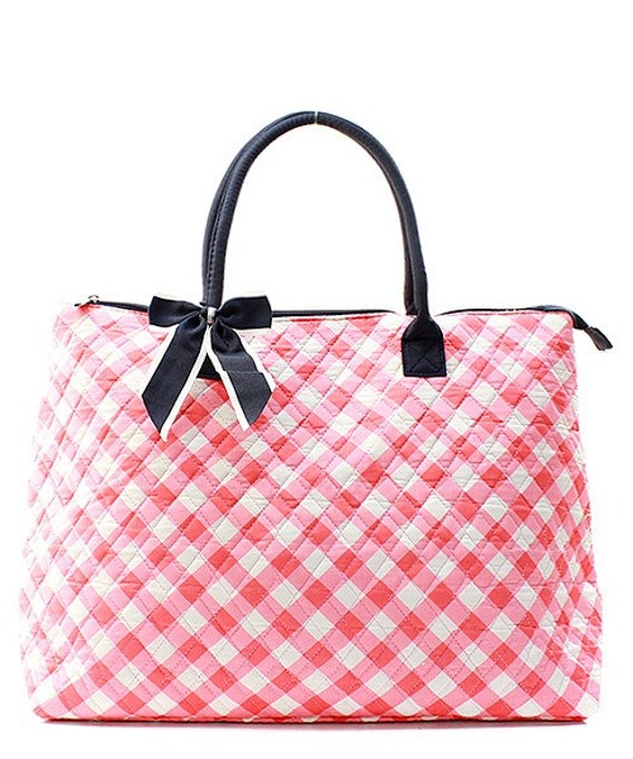 Cute gingham tote bag