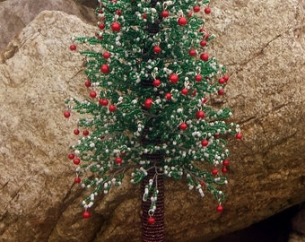 Christmas tree made of beads