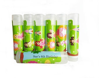 Princess Party Favors,  Personalized Lip Balm Party Favors-Fairytale Theme Birthday Party,Vegan Girls Party Favors Set of 6