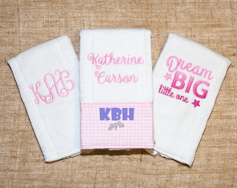 Embroidered Burp Cloths