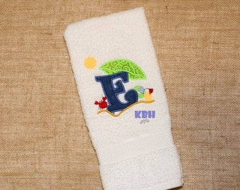 Beach Theme Hand Towel