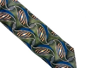 tie, necktie, MILANO UOMO, 100% silk, menswear, men, accessories, clothing, craft supplies, vintage, retro