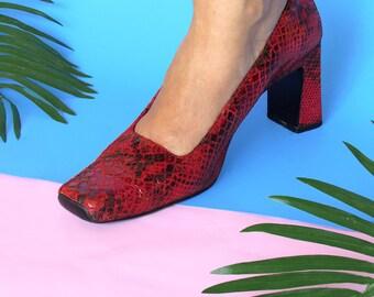 Vintage Square Up Heels  (Size 8)