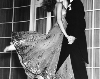 Fred Astaire & Rita Hayworth 5x7 or 8x10 Photo Print 1940s Dancing Couple Hollywood Classic, Elegant Portrait