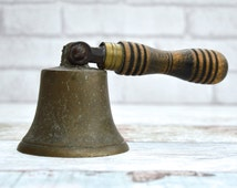 No 12 B Brass Bell Antique Brass Bell Vintage Brass Bell Victorian Hand Bell Vintage School Bell Bell Ringing Swivel Hand Bell