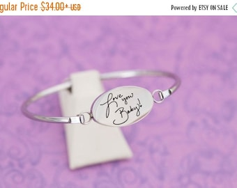 Engraved Handwriting Bar Bracelet - Handwriting - Father's Day - Anniversary - Engraved Jewelry - Handwriting Jewelry - Engraved Bracelet