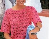 womens crochet sweater CROCHET PATTERN womens crochet top 32-38 inch DK / 8 ply womens crochet pattern pdf instant download