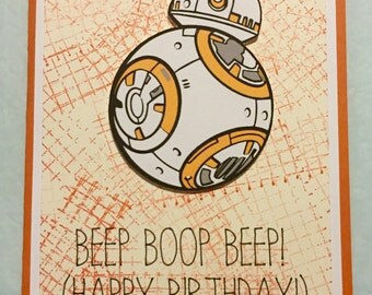Disney Star Wars BB8 birthday greeting card