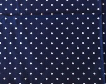 Pimatex Basics Navy Dot Quilting Fabric Remnant