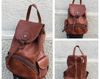 80s Leather Backpack