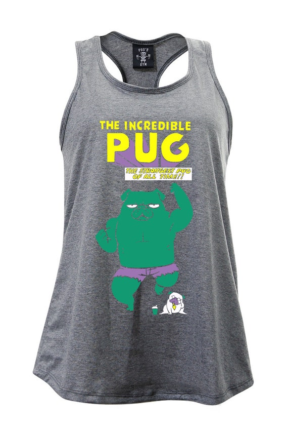 The Incredible Pug Ladies Tank Top Pug Tank Workout by PugsGym - photo#21