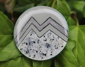 Sillver Mountain Wooden Pin
