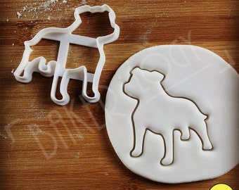 Staffordshire Bull Terrier Dog cookie cutter | biscuit cutter | fondant cutter | clay cheese cutter | one of a kind ooak | Bakerlogy