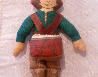Hallmark ~ Vintage ~ Drummer Boy Cloth Doll ~ 1979