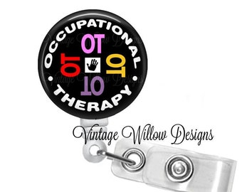 Occupational Therapy (OT1) Retractable ID Badge Reel