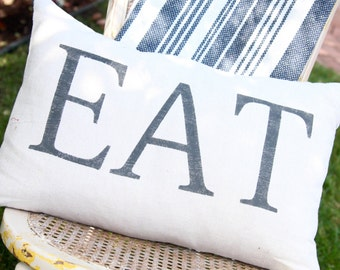 Hand painted Pillow - EAT