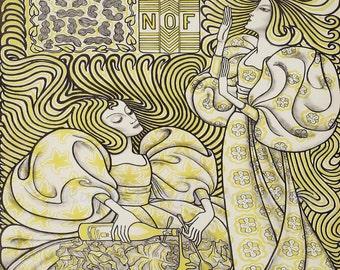 "Jan Toorop ""Delftsche Slaolis"" Salad Oil Advertisment Art Deco 1893  Reproduction Digital Print Vintage Print Wall Hanging"