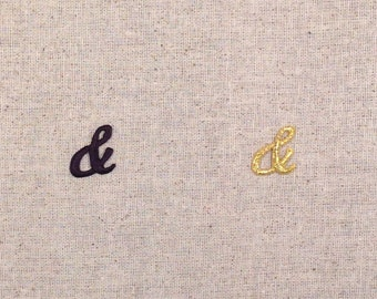 Ampersand - And Sign - BLACK or GOLD Color Choice - Iron on Applique - Embroidered Patch - 3021361