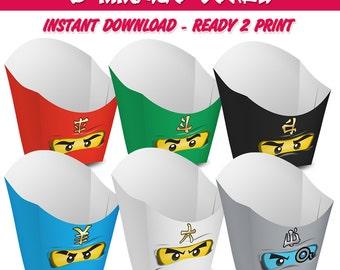 6 Popcorn Box Ninjago