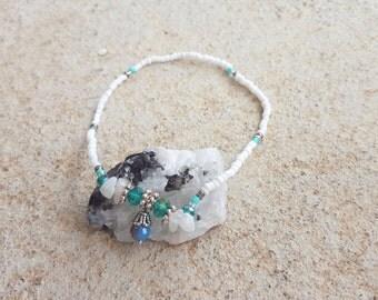 Anklet l Small Bead l Handmade l Moonstone l Charm
