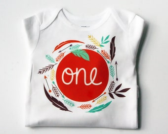 Boho Birthday Onesie, First Birthday Shirt, Bohemian baby Onesie, 1st Birthday Onesie, 1st Birthday Shirt, Birthday Onesie, Baby Birthday