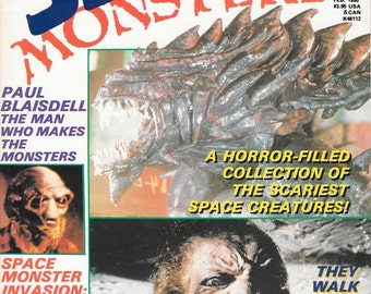 Space Monsters Magazine #1 First Issue Rare UFO Universe Horror Movies Aliens The thing