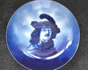 Rosenthal Delft Porcelain Portrait of Rembrandt Wall Plaque