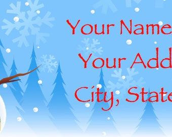CHRISTMAS AND HOLIDAY Personalized Address Labels - Your Choice of 5 Patterns!