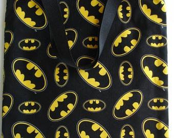 Batman Tote Bag - Trick or Treat Bag - Child Tote Bag - Batman Gift - Small Cotton Tote - Batman Bag
