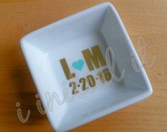 Personalized Bridal / Wedding Ring Dish