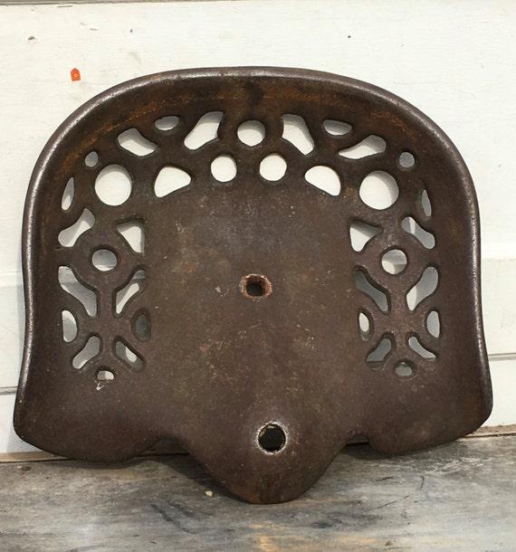 Antique Iron Tractor Seats : Fantastic antique cast iron tractor seat farm implement