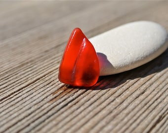 Genuine Red Sea Glass, Rare Sea Glass, Red Beach Glass, Beach Glass Pendant, Beach Finds, Greek Sea Glass, Real Sea Glass, Sea Glass Supply