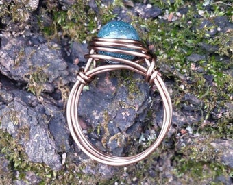 Moss Agate Wire - Wrapped Ring