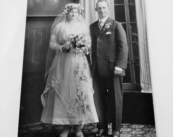 Vintage 1920's Wedding Photograph
