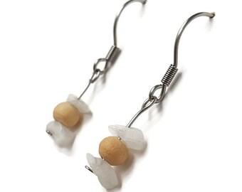Rainbow moonstone jewelry whimsical bohemian earring genuine moonstone earring bohemian whimsical jewelry healing crystal stone jewelry awin