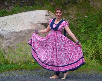 Anarkali/Paisley Print Anarkali/ Maxi Summer Dress/ Maxi Dress/Long Dress/Cotton Dress/Jaipur Cotton Dress/ Traditional Indian