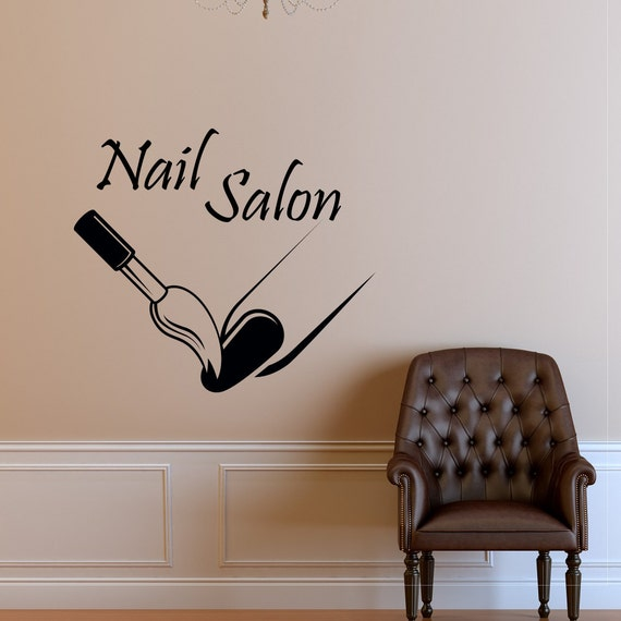 custom nail salon wall decal vinyl sticker manicure nail polish