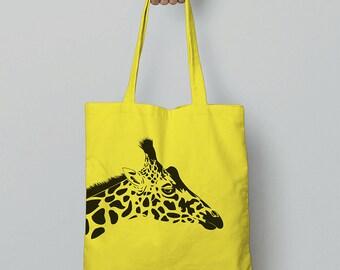 Giraffe Tote Bag / Canvas Bag / Shopping Bag / Shoulder Bag / Canvas Tote Bag / Christmas Gift For Girlfriend / Animal Gift Women / Giraffes