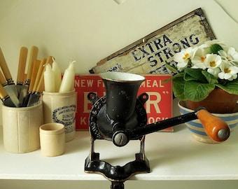 Vintage coffee grinder, Spong coffee grinder