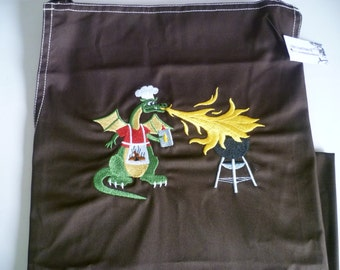 Dragon BBQ Apron Dads Barbecue Summer Barbeque Fathers Day Gift