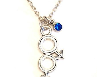 Male and Female Necklace, Male Charm, Male Pendant, Male Jewelry, Female Necklace, Female Charm, Female Pendant, Female Symbol, Male Symbol